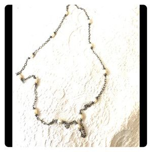 Judith Ripka Pearl and Sterling Silver Necklace